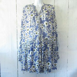 Free People Top Love Letter Tunic Floral